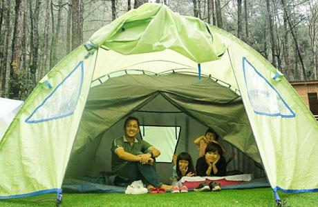 Camping di Kopeng Treetop Adventure Park - wisatakaka.com