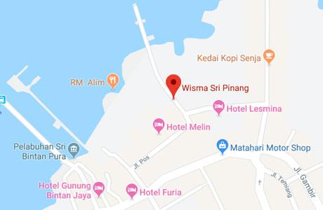 Lokasi Wisma Sri Pinang, Tanjung Pinang