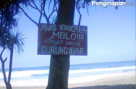 Papan peringatan bagi para pengunjung