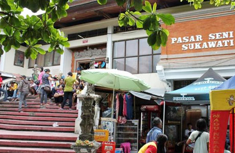 Pasar Seni Sukawati - travel.tribunnews.com