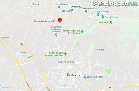 Lokasi kolam renang Eldorado Bandung