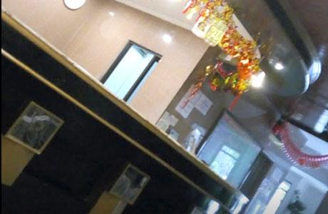 Meja resepsionis Wisma Sri Pinang